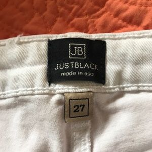 Just Black Jeans - JUST BLACK Skinny Stretch White Jeans